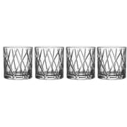 Orrefors City 10.9 oz. Double Old Fashioned Glass (Set of 4)