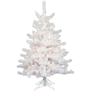 Vickerman Crystal White 2' Artificial Christmas Tree w/ 50 Dura-Lit Multi-Colored Lights