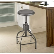 AdecoTrading Logan Adjustable Height Bar Stool