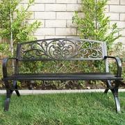 Belleze Metal Garden Bench; Bronze