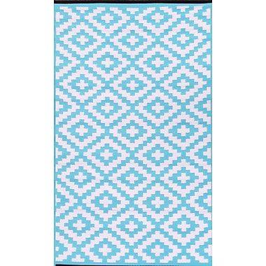 Green Decore Nirvana Blue/White Indoor/Outdoor Area Rug; 5' x 8'
