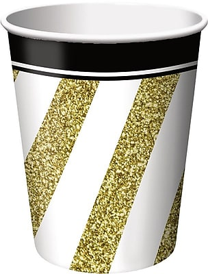 Creative Converting Black and Gold Cups (Set