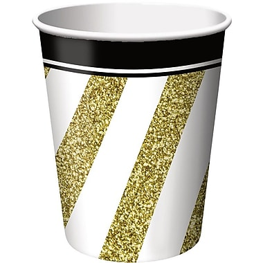 Creative Converting Black and Gold Cups (Set of 8)