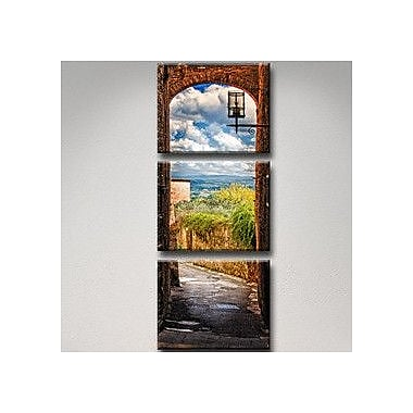 Ready2hangart 'Tuscan Architecture V' by Bruce Bain 3 Piece Photographic Print on Canvas Set