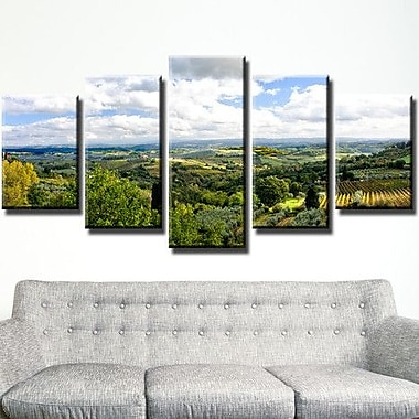 Ready2hangart 'Tuscan Landscape I' by Bruce Bain 5 Piece Photographic Print on Canvas Set
