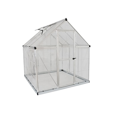 Palram Nature Series 6 Ft. W x 6 Ft. D Greenhouse Frame; Silver