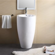 Fine Fixtures Pedestal Series 19.69'' Bathroom Sink