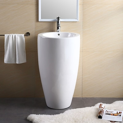 Fine Fixtures Vitreous China 20'' Pedestal Bathroom Sink