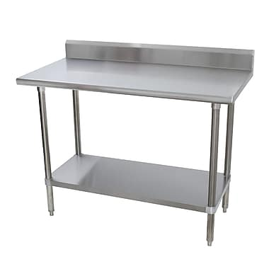 Advance Tabco Heavy Duty Height Adjustable Stainless Steel Top Workbench; 30'' H x 40.5'' W x 30'' D