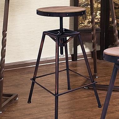 AdecoTrading Adjustable Height Swivel Bar Stool