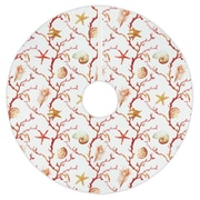 Island Girl Home Holiday Coral Lattice Tree Skirt