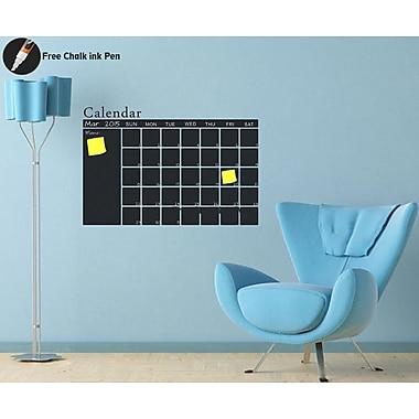 Pop Decors Monthly Calendar Chalkboard Wall Decal