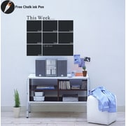 Pop Decors Weekly Planner Chalkboard Wall Decal