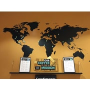 Pop Decors World Map Wall Decal