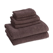 American Dawn Inc. New Cambridge Quick Dry 6 Piece Towel Set; Chocolate
