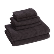 American Dawn Inc. New Cambridge Quick Dry 6 Piece Towel Set; Jet Black