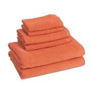 American Dawn Inc. New Cambridge Quick Dry 6 Piece Towel Set; Sunset