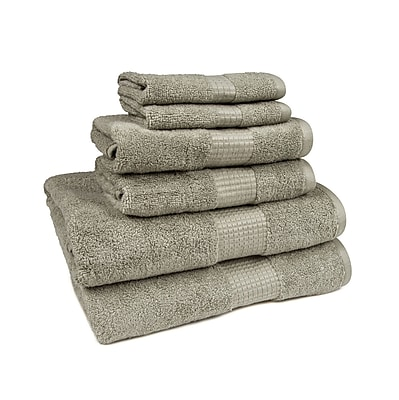 American Dawn Inc. Crystal Bay 6 Piece Towel Set; Sage Gray