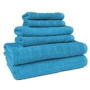 American Dawn Inc. Cobblestone 6 Piece Towel Set; Teal