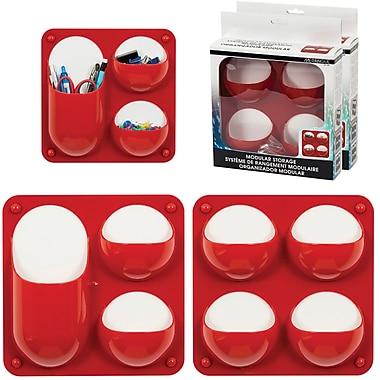 Merangue – Contenants modulaires à motif de bulle, paq./2, rouge
