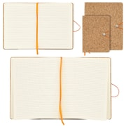 "Merangue Cork Bungee Notebook Combo Pack, 2/Pack, 6x8"" + 8.5x10.5"""