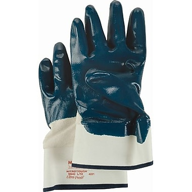 Ansell Gloves Palm Coated Nitrile Safetycuff Smooth, Medium, 24 Pairs/Pack (114372)