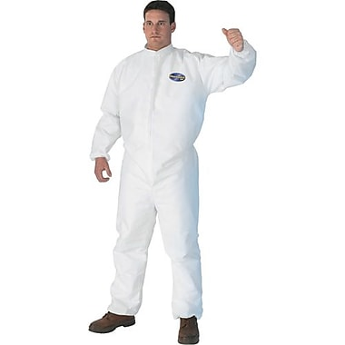 Kimberly-Clark Coveralls Kleenguard A30Wht w/Zip Elastic, Medium, 10/Pack (46102)
