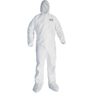 Kimberly-Clark – Combinaison A30, blanc, avec capuchon et bottes élastiques à glissière, 3X-Grand, 10/pqt (46126)