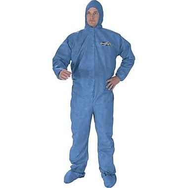 Kimberly-Clark – Combinaison A60, bleu, avec glissière, capuchon et botte élastiques, moyen, 12/paquet (45092)