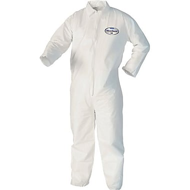 Kimberly-Clark Coverall, Kleenguard A40White Front Zip, 12/Pack (44305)