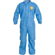 Dupont Personal Protection Coverall, Proshield, Blue, Elas Wrist&Ankle, 4X, 12/Pack (PB125SBU4X002500)