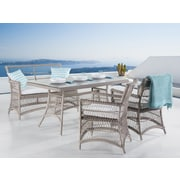 Wicker Dining Set with Bench and Chairs, Barlet (36828)