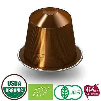 FUERTE®, Nespresso®-Compatible Coffee Capsule, Organic Arabica Coffee, Escura, (20/pack)