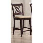Iconic Furniture 24'' Bar Stool; Mocha