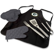 Picnic Time BBQ Apron Tote Pro; Green Bay Packers