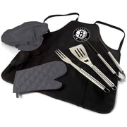 Picnic Time BBQ Apron Tote Pro; Brooklyn Nets
