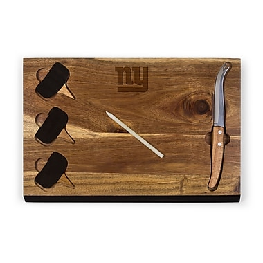 Picnic Time Delio Cutting Board and Cheese Tools Set (Set of 6); New York Giants