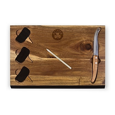 Picnic Time Delio Cutting Board and Cheese Tools Set (Set of 6); Boston Celtics