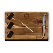 Picnic Time Delio Cutting Board and Cheese Tools Set (Set of 6); Brooklyn Nets