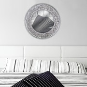 DecorShore Decorative Wall Mirror; Silver