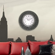 DecorShore 22.5'' Silent Wall Clock; Black