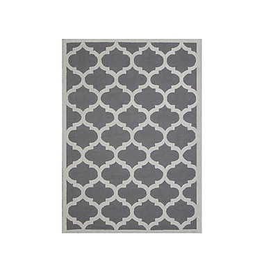 DecorShore Aroa Cupola Hand-Tufted Gray Area Rug; 5' x 7'