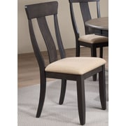 Iconic Furniture Side Chair (Set of 2); Black Stone