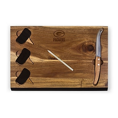 Picnic Time Delio Cutting Board and Cheese Tools Set (Set of 6); Green Bay Packers