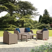 SunTime Outdoor Living Oklahoma 4 Piece Lounge Seating Group w/ Cushion