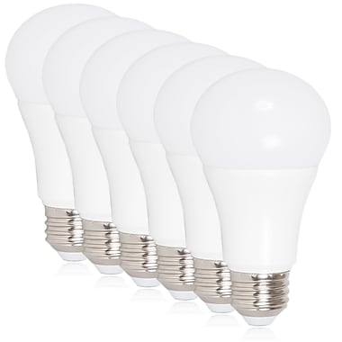 Maxxima 10 Watt Warm White A19 LED Light Bulb 800 Lumens, 6 Pack (MLB-191050W-06)