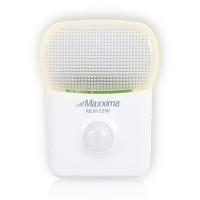 Maxxima LED Motion Activated Night Light with 5 LEDs Warm White, Single Pack, 6 x 3.6 x 1.1 (MLN-55W)
