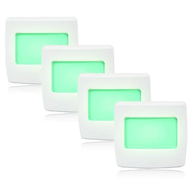 Maxxima Mini Green Always On LED Night Light, Pack of 4, 5.3 x 2 x 0.4 (MLN-35G-4)