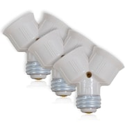 Maxxima Light Bulb Socket Splitter For LED, CFL & Standard Light Bulbs, 3 Pack (MEW-LS100-3)