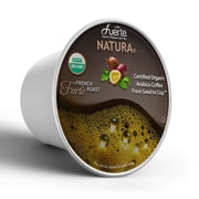 FUERTE®Forte™, K-Cup® Compatible Pod, French Roast, USDA Organic Arabica Coffee, 18/PK. (KCC-8164)